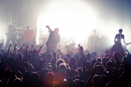 Blue october with crowd